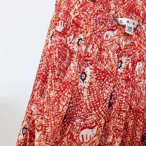 CAbi Skirts - Cabi Women's Batik Print Short Skirt Pockets XS